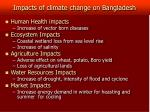 impacts of climate change on bangladesh