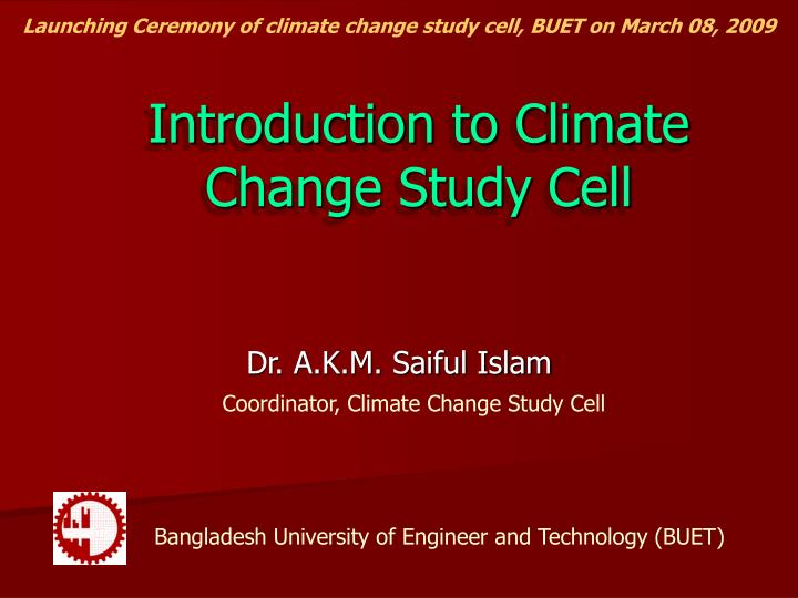 introduction to climate change study cell n.