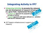 integrating activity in fp7