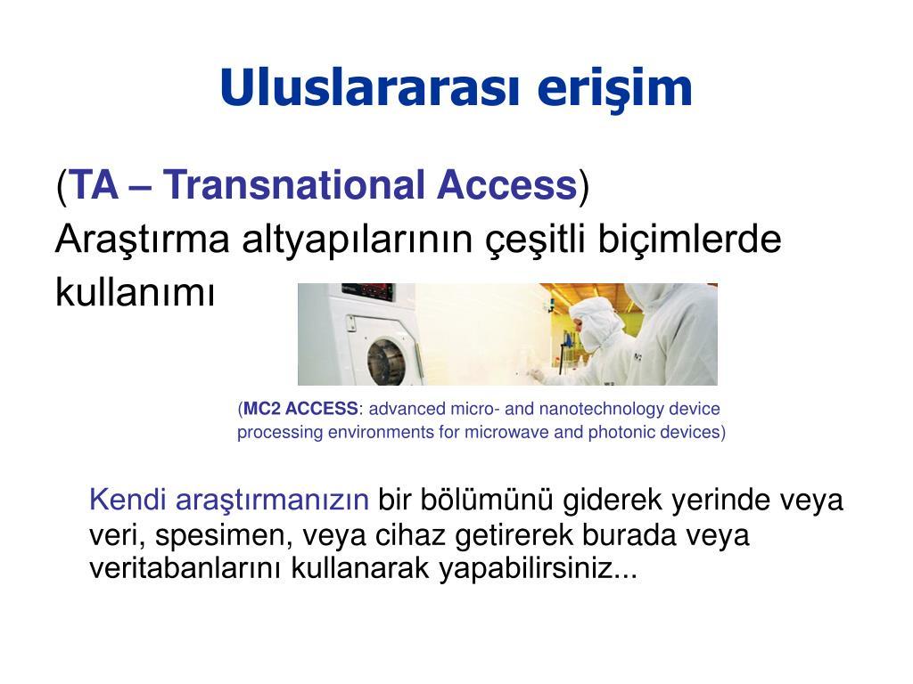 Uluslararası erişim