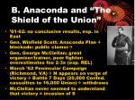b anaconda and the shield of the union