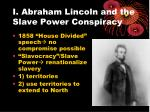 i abraham lincoln and the slave power conspiracy