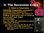 ii the secession crisis