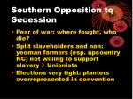 southern opposition to secession