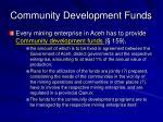 community development funds
