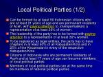 local political parties 1 2