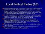 local political parties 2 2