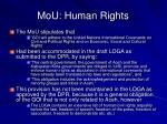 mou human rights