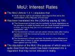 mou interest rates