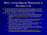 mou living natural resources in the sea 1 3
