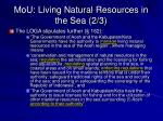 mou living natural resources in the sea 2 3