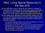 mou living natural resources in the sea 3 3