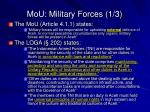 mou military forces 1 3