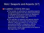 mou seaports and airports 5 7