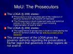 mou the prosecutors