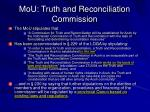 mou truth and reconciliation commission