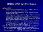 relationship to other laws