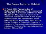 the peace accord of helsinki