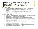 health governance map of pakistan weaknesses