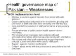health governance map of pakistan weaknesses16