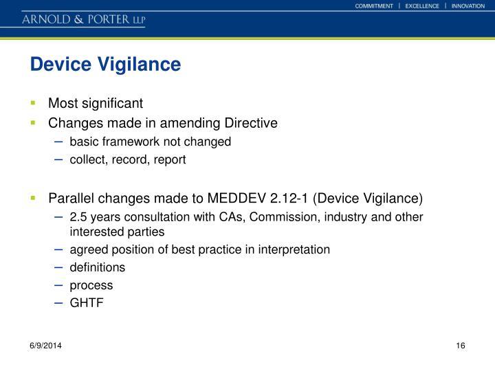 Device Vigilance