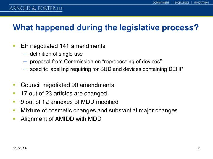 What happened during the legislative process?
