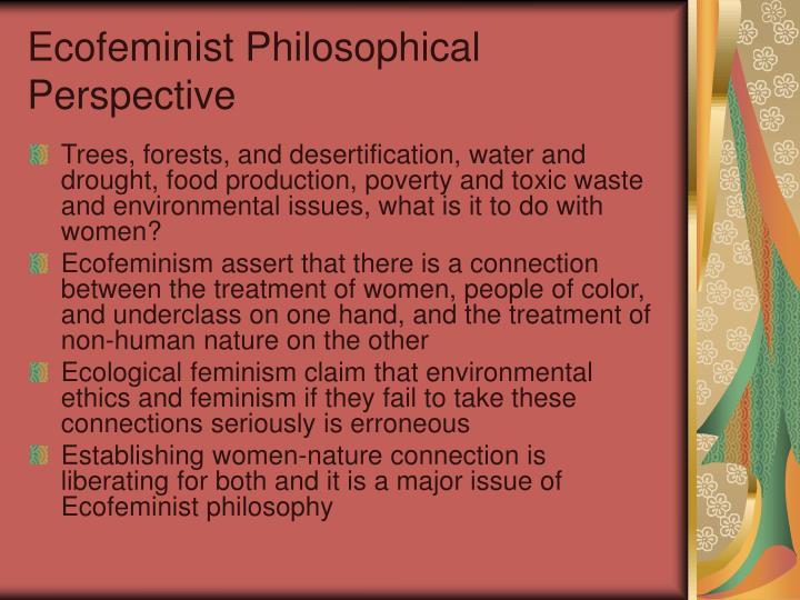 Ecofeminist philosophical perspective