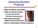 assessing student progress