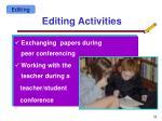 editing activities