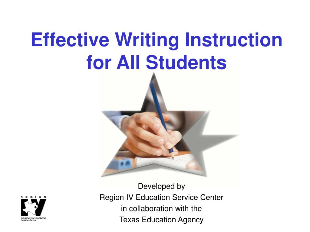 effective writing instruction for all students l.
