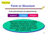 form or structure