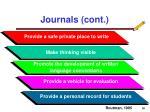 journals cont