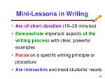 mini lessons in writing