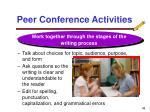peer conference activities