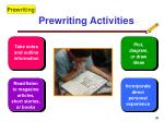 prewriting activities54