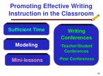 promoting effective writing instruction in the classroom