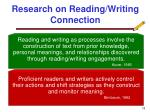 research on reading writing connection