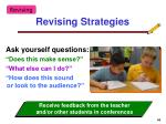 revising strategies68