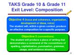 taks grade 10 grade 11 exit level composition