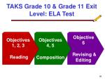 taks grade 10 grade 11 exit level ela test