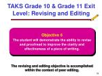 taks grade 10 grade 11 exit level revising and editing