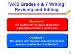 taks grades 4 7 writing revising and editing