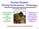 teacher student writing conferences purposes34