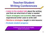 teacher student writing conferences
