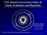 unc board of governors policy goals evaluation and reporting