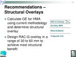 recommendations structural overlays