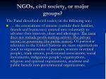 ngos civil society or major groups