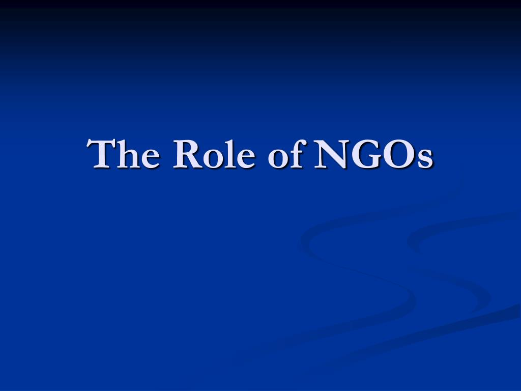 the role of ngos l.