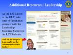 additional resources leadership