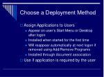 choose a deployment method12